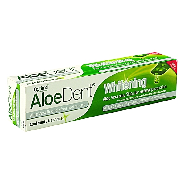 An image of Aloe Dent Whitening Fluoride Free Toothpaste with Silica 100ml